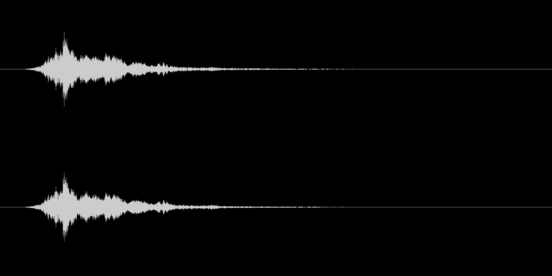 【アクセント12-1】の未再生の波形