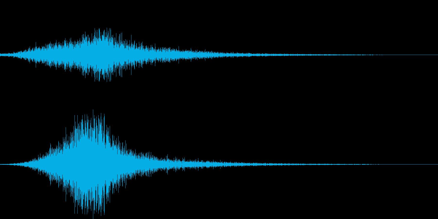 シャッ!場面転換/迫力の風切り音 09の再生済みの波形
