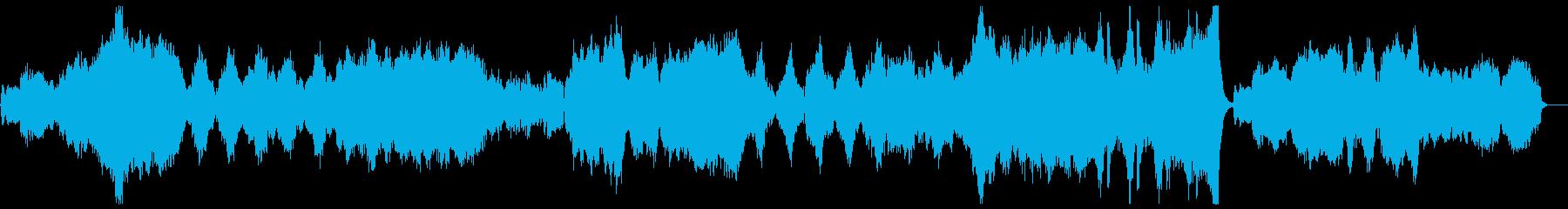 映画音楽風のエピックなオーケストラの再生済みの波形
