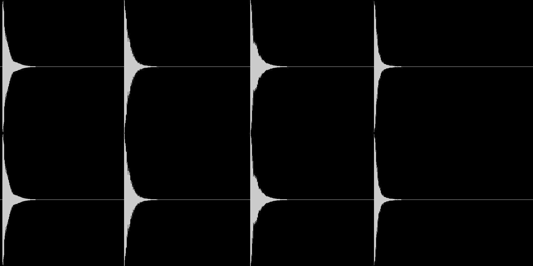 中金属パイプヒットの未再生の波形