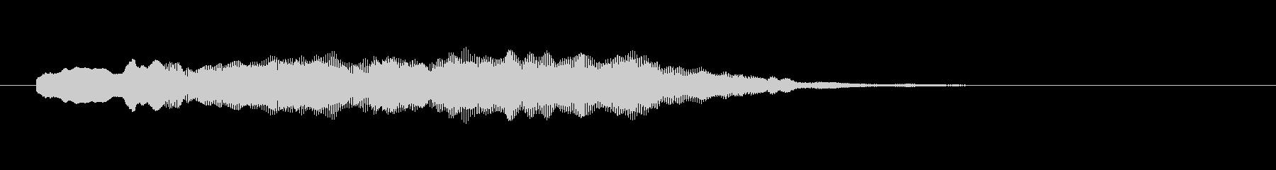 爽やかかつファンタジックなサウンドロゴの未再生の波形