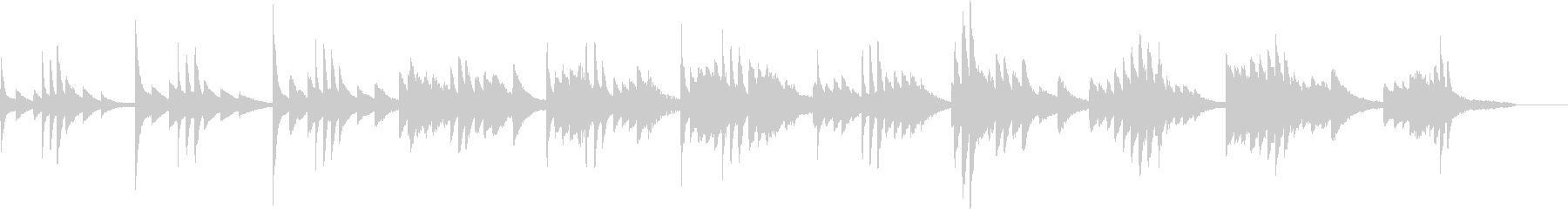 BGM用寂しいピアノの未再生の波形