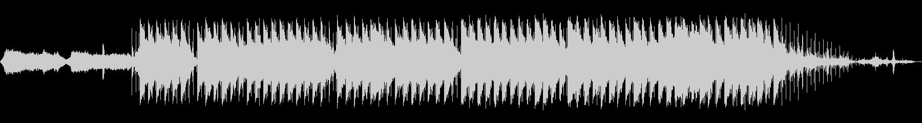 エレクトロニック 説明的 静か 平...の未再生の波形