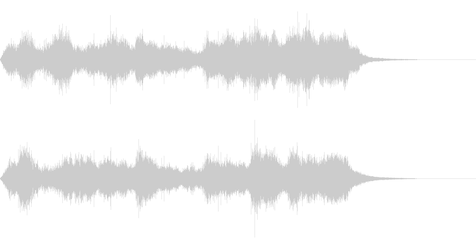 CINEMATIC RISER_12の未再生の波形