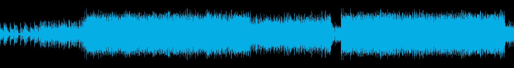 かわいい系、軽快でノリの良いテクノポップの再生済みの波形