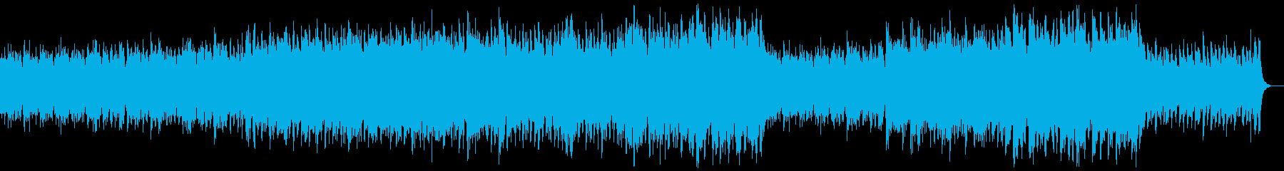 明るいケルト風オーケストラの再生済みの波形