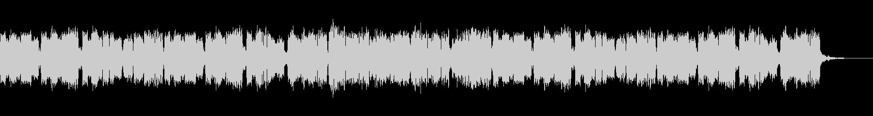 ほのぼのしたリコーダーのBGMの未再生の波形