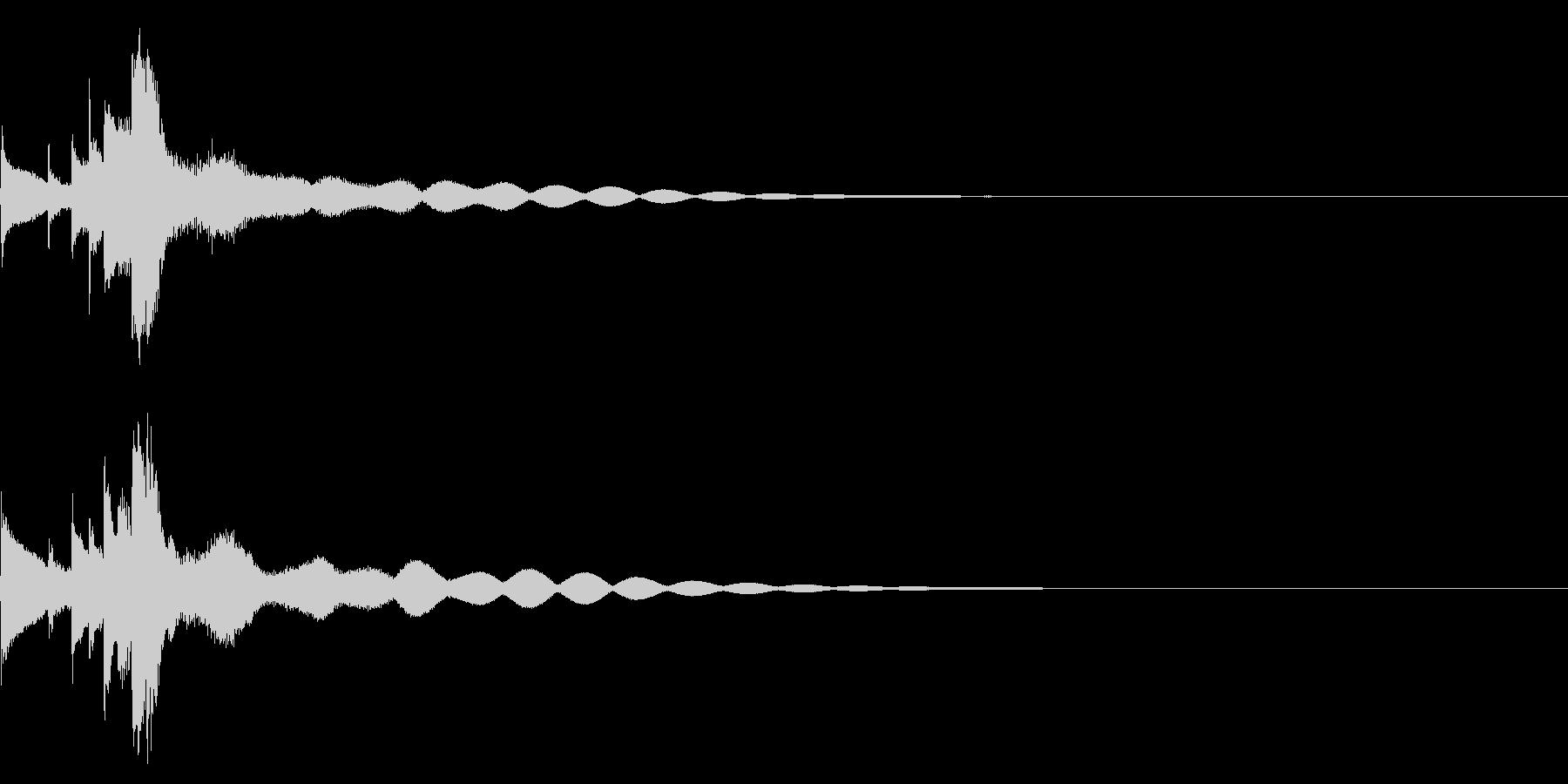 キラーンときれいな効果音の未再生の波形