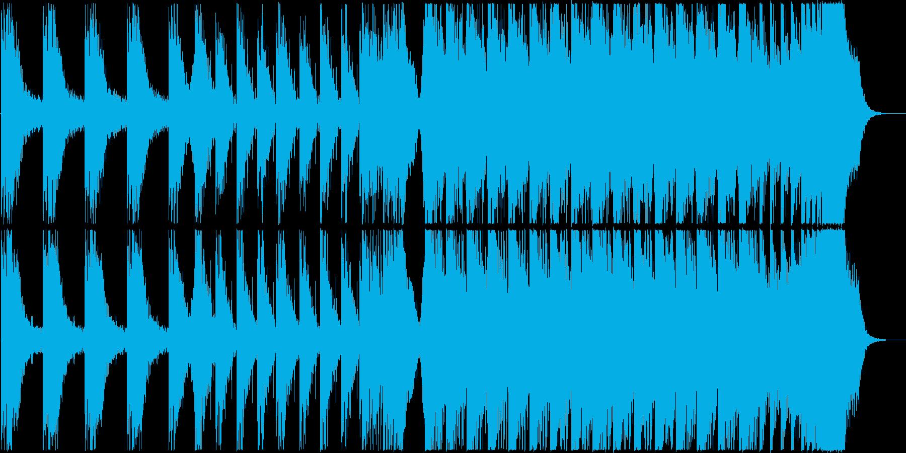 映画の予告編のような壮大で迫力のある楽曲の再生済みの波形