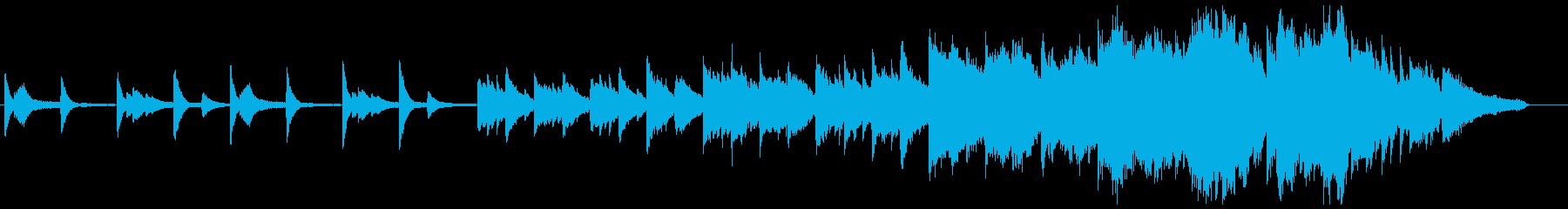 シリアスでドラマチックなピアノオケ曲の再生済みの波形