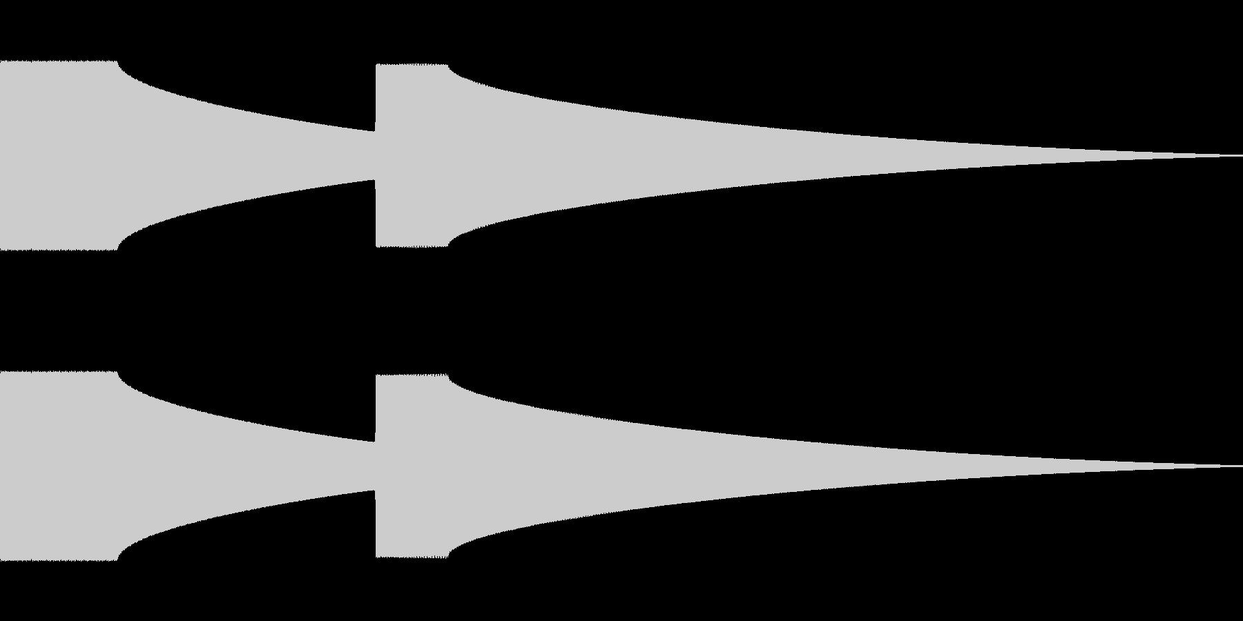 ドアチャイム(矩形波)の未再生の波形