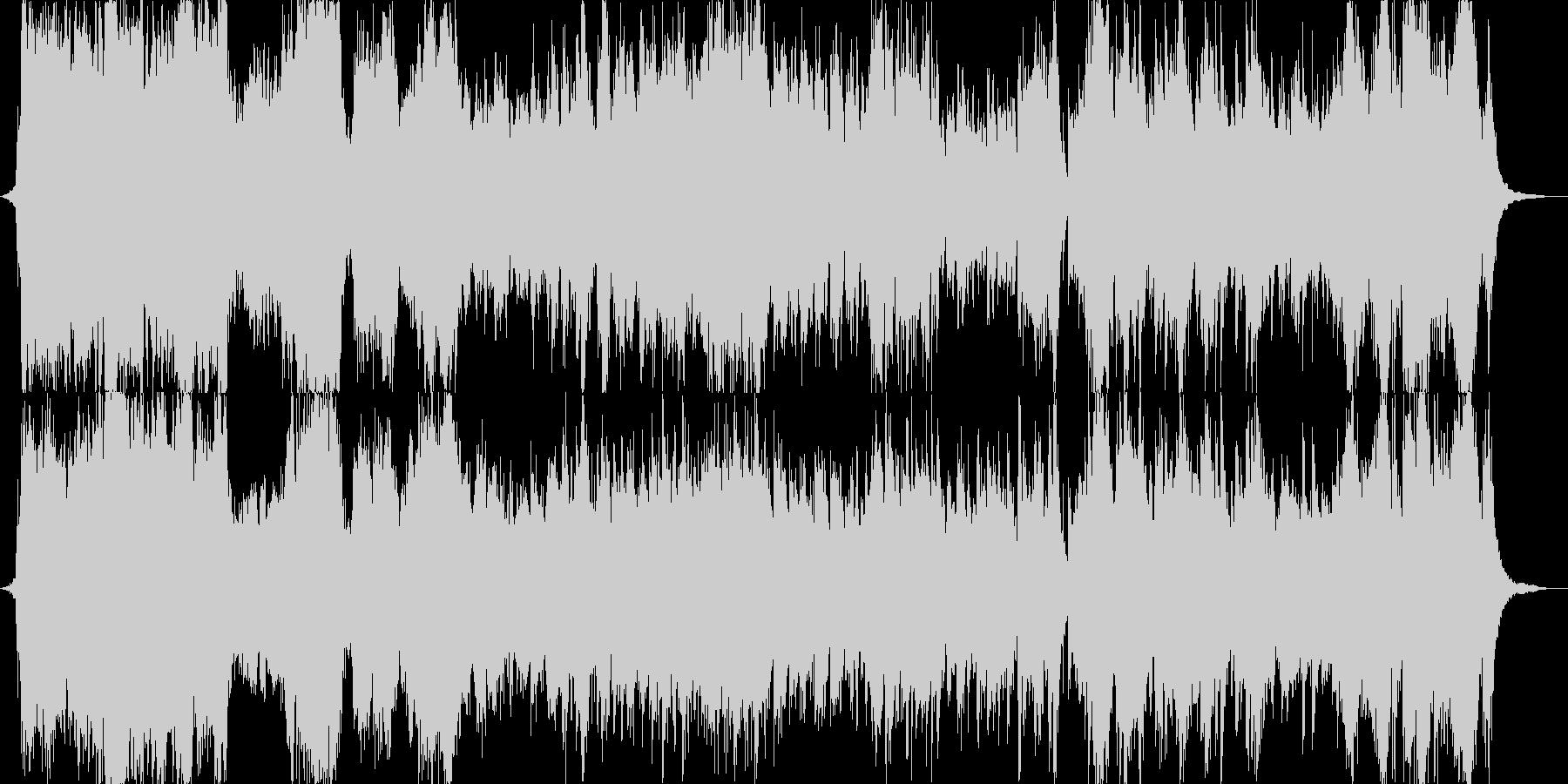 ミュージカルのオープニング風の華やかさの未再生の波形