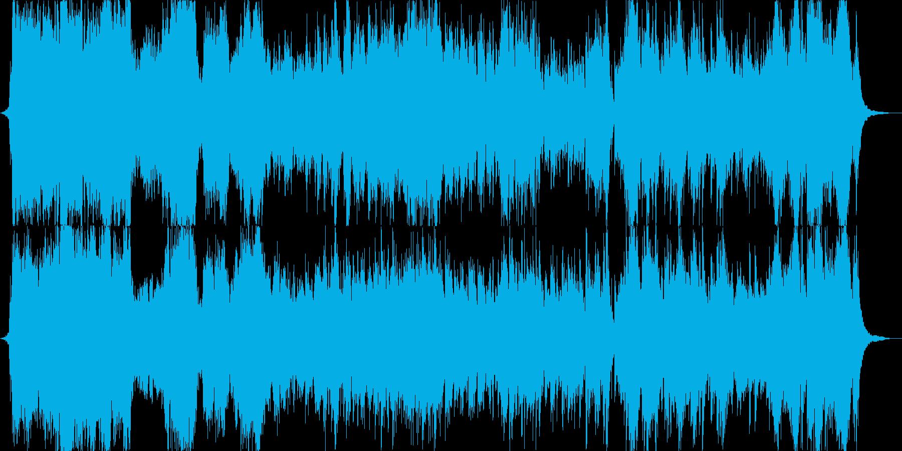 ミュージカルのオープニング風の華やかさの再生済みの波形