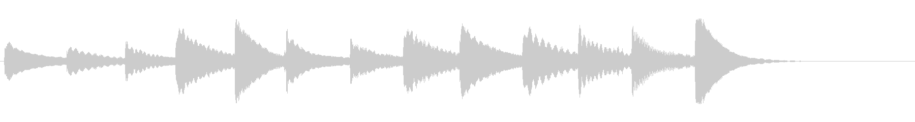 カリンバを生演奏した可愛いジングルの未再生の波形