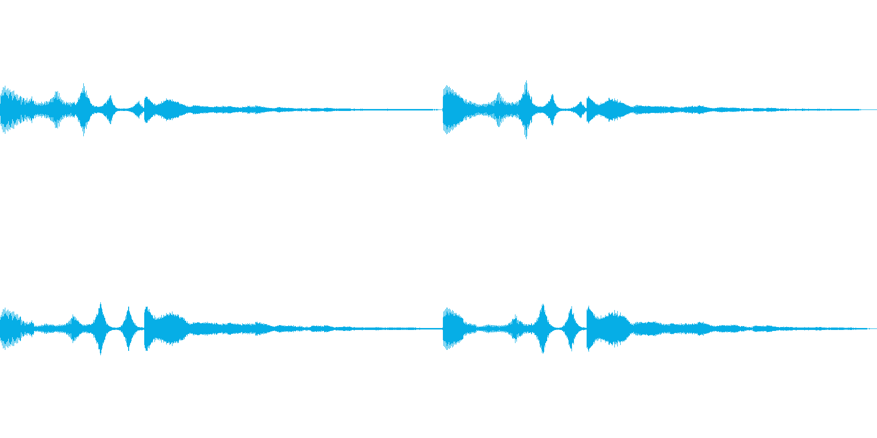 シャラララ…シャラ 謎の通信音 (SF)の再生済みの波形