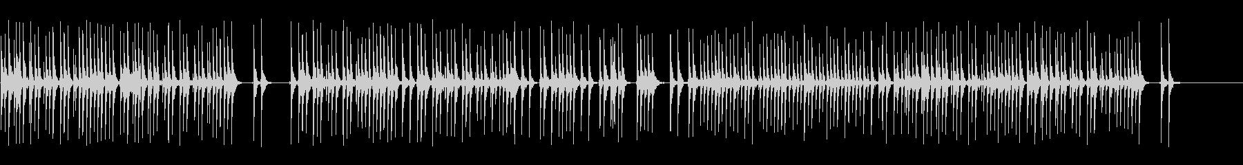 三線と沖縄民謡の未再生の波形