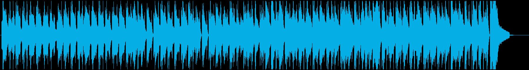 ハワイ風のほのぼのとした雰囲気のBGMの再生済みの波形
