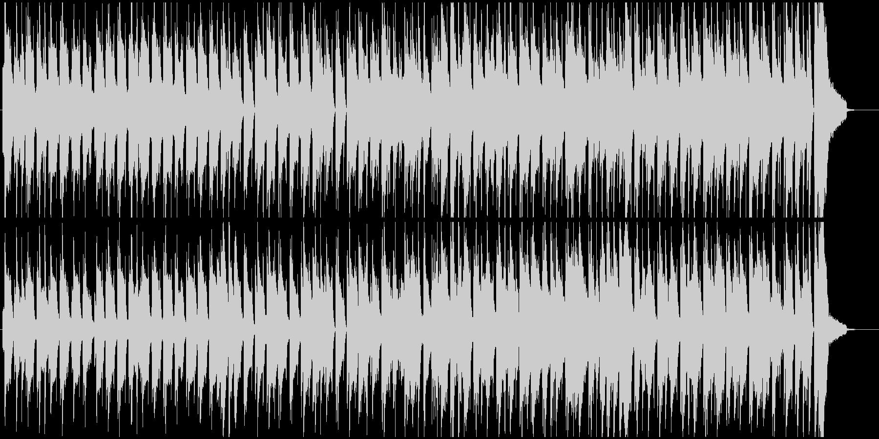 ハワイ風のほのぼのとした雰囲気のBGMの未再生の波形