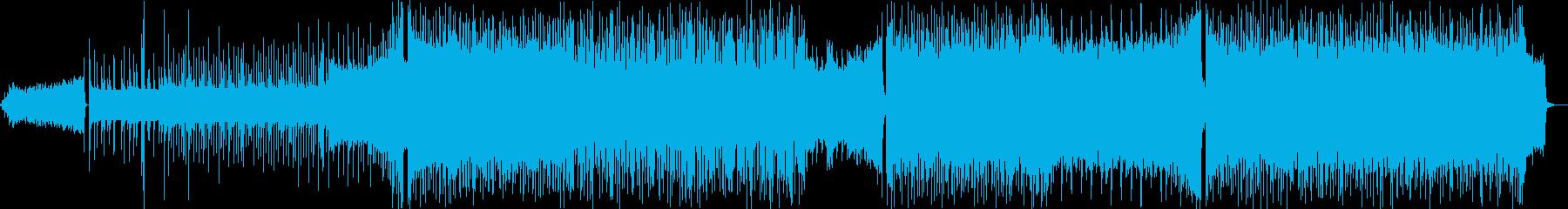 盛り上がりを意識したEDM風BGMの再生済みの波形