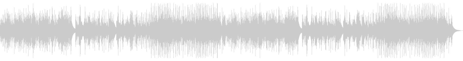 ウクレレとピアノの柔らかい曲の未再生の波形