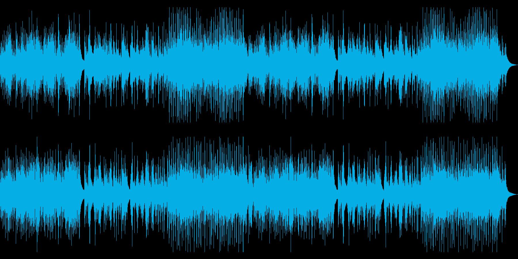 ウクレレとピアノの柔らかい曲の再生済みの波形