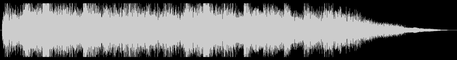 ミステリアスなピアノのジングル 場面転換の未再生の波形