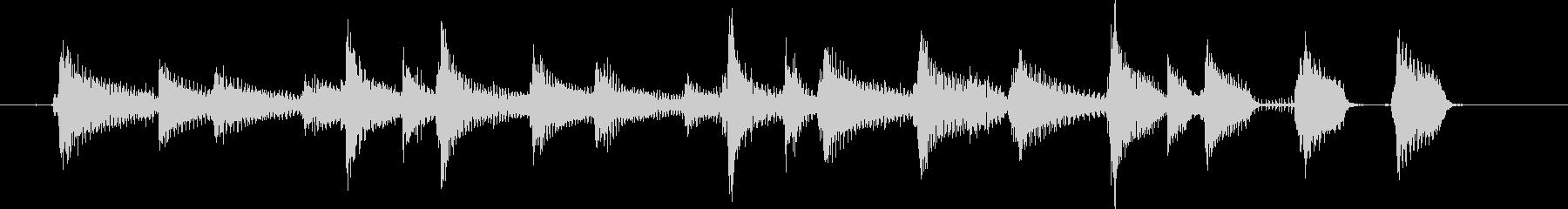 ウクレレとコンガのまったりなジングルの未再生の波形