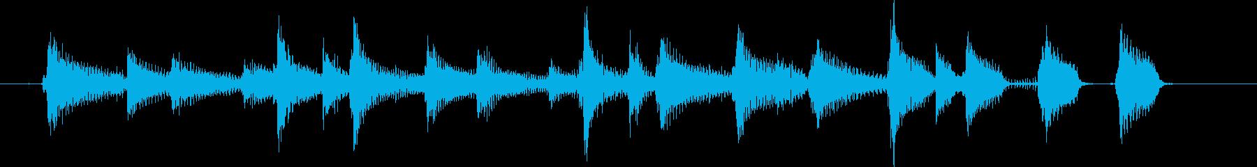 ウクレレとコンガのまったりなジングルの再生済みの波形