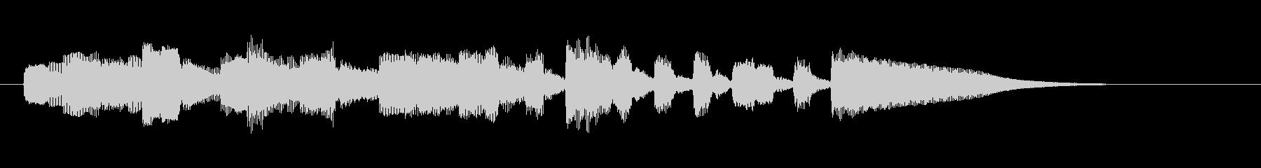 エレキギター、アルペジオ、ジングルの未再生の波形
