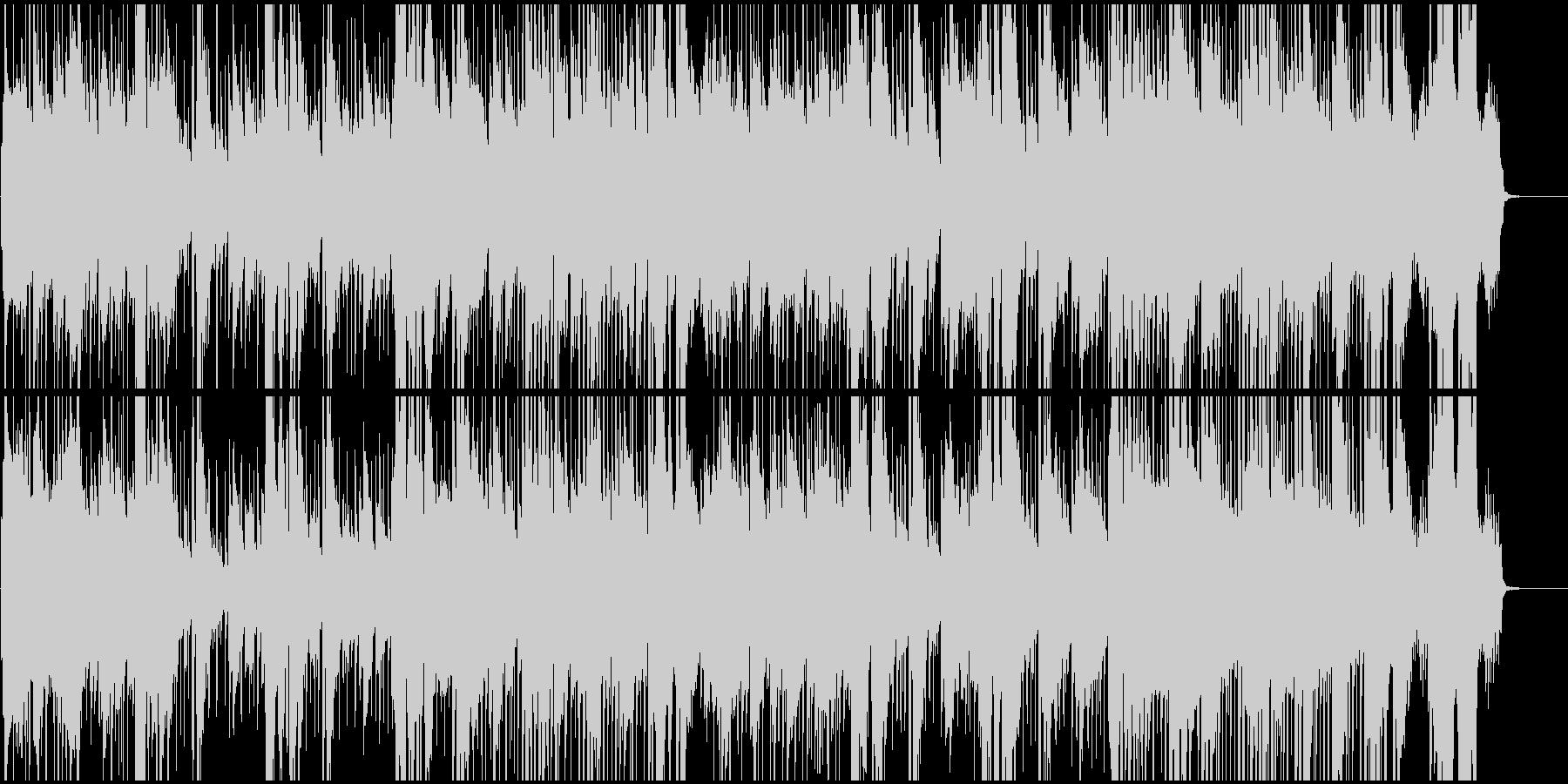 男性ボーカル、西部劇音楽調の歌の未再生の波形