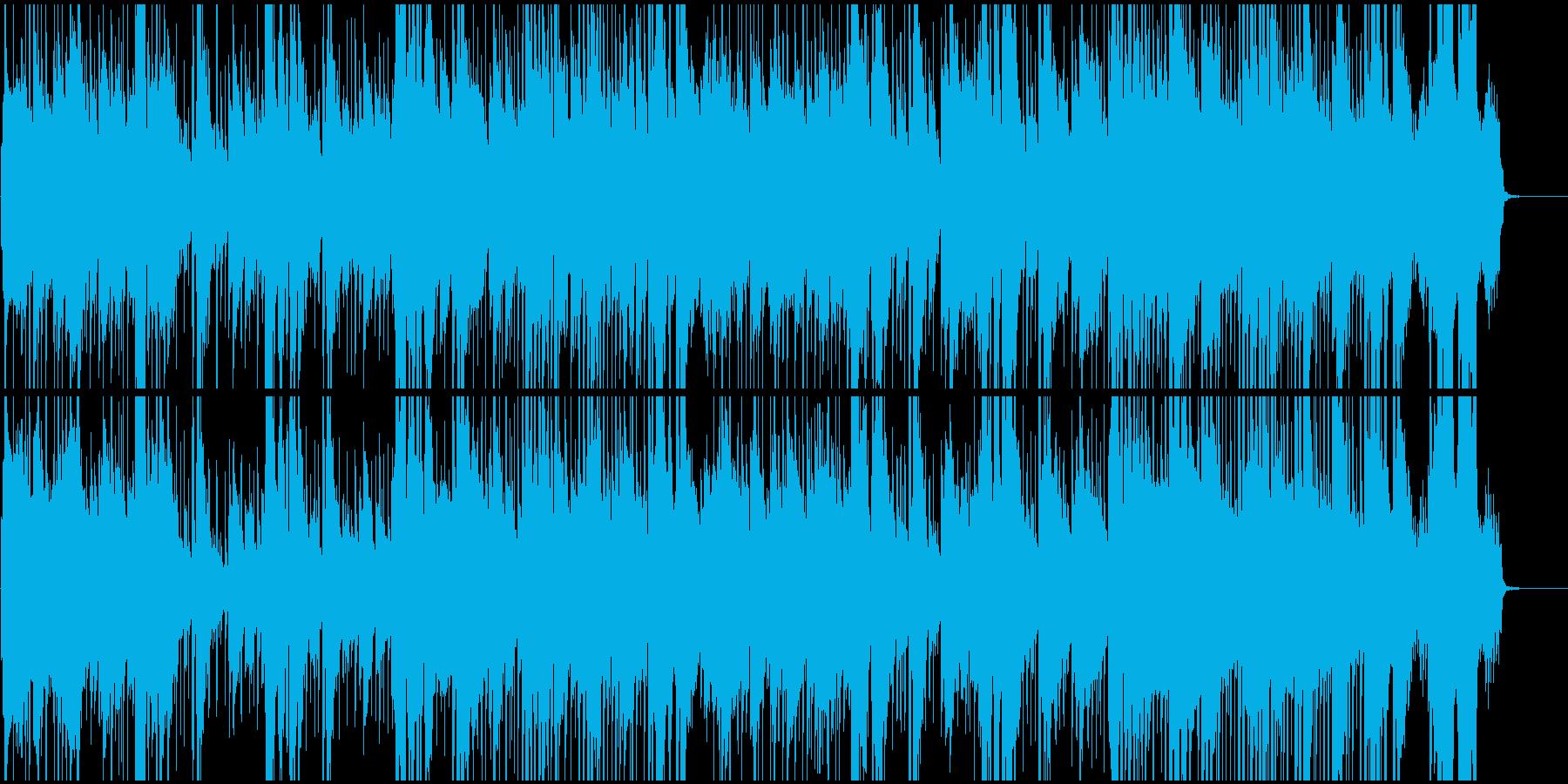 男性ボーカル、西部劇音楽調の歌の再生済みの波形