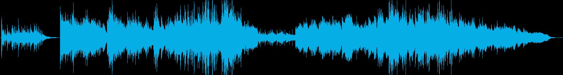 ピアノとバイオリンが綺麗なバラード曲の再生済みの波形