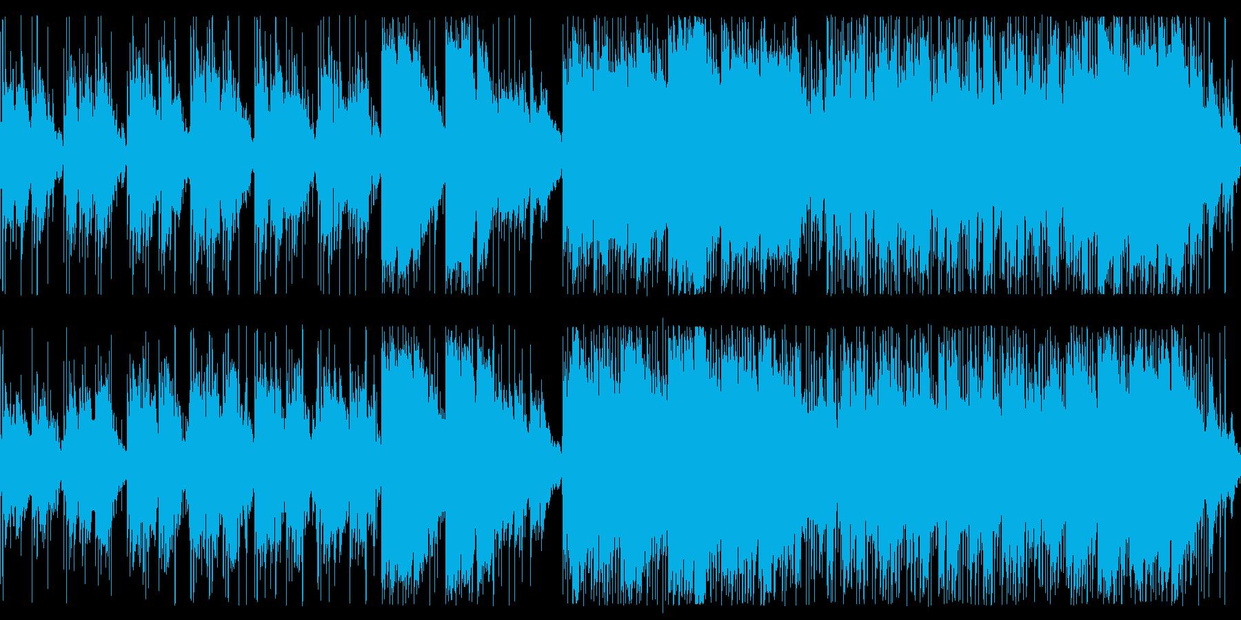 森や泉をイメージした優しい曲の再生済みの波形