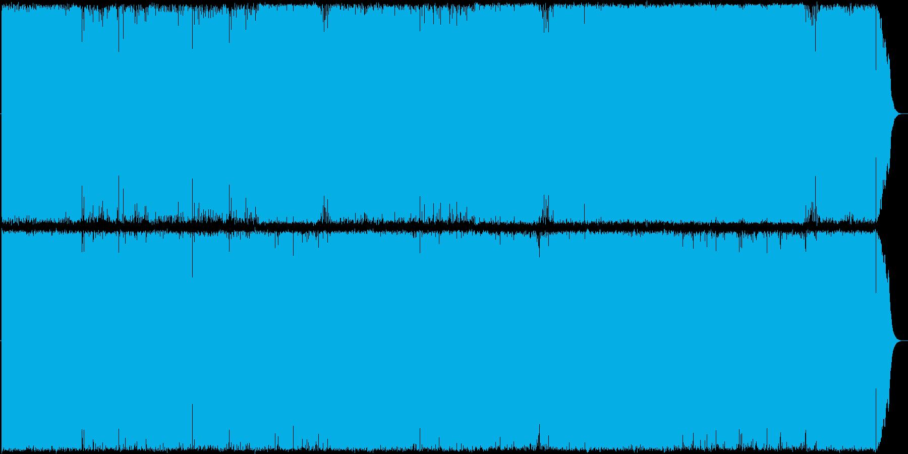 激しくてストレートなロックの再生済みの波形