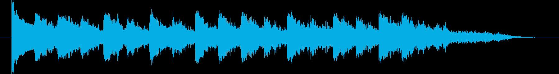 和風ミステリーっぽいアイキャッチの再生済みの波形