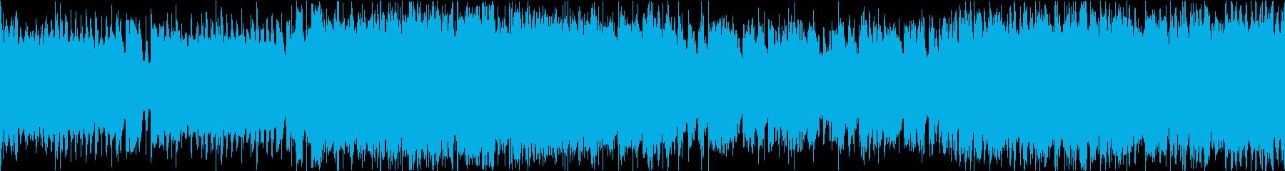 明るいギターロックインスト/ループの再生済みの波形