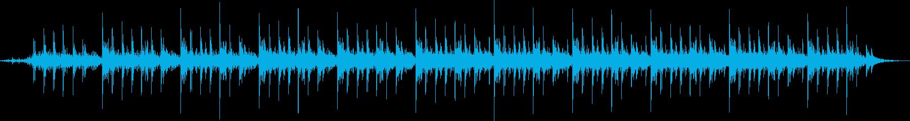 ヒーリングの瞑想用ミニマル音楽と自然音の再生済みの波形