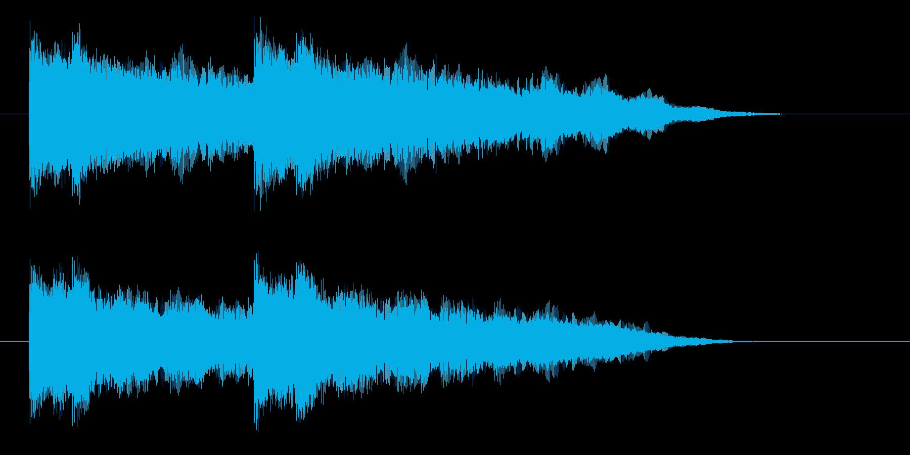 激しいギターのジングル曲、サウンドロゴの再生済みの波形