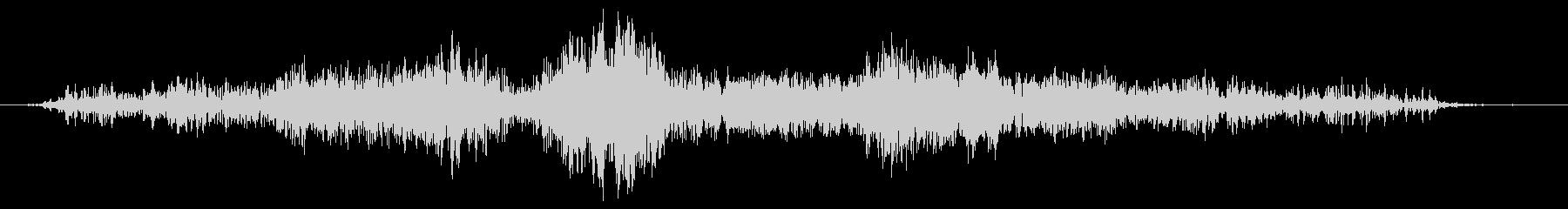 長いファスナーの音の未再生の波形