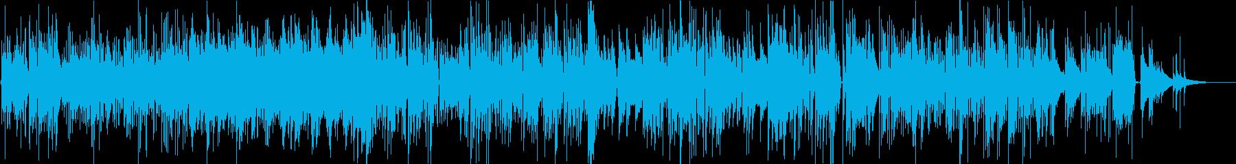 ブルース、カントリー調のギターBGMの再生済みの波形