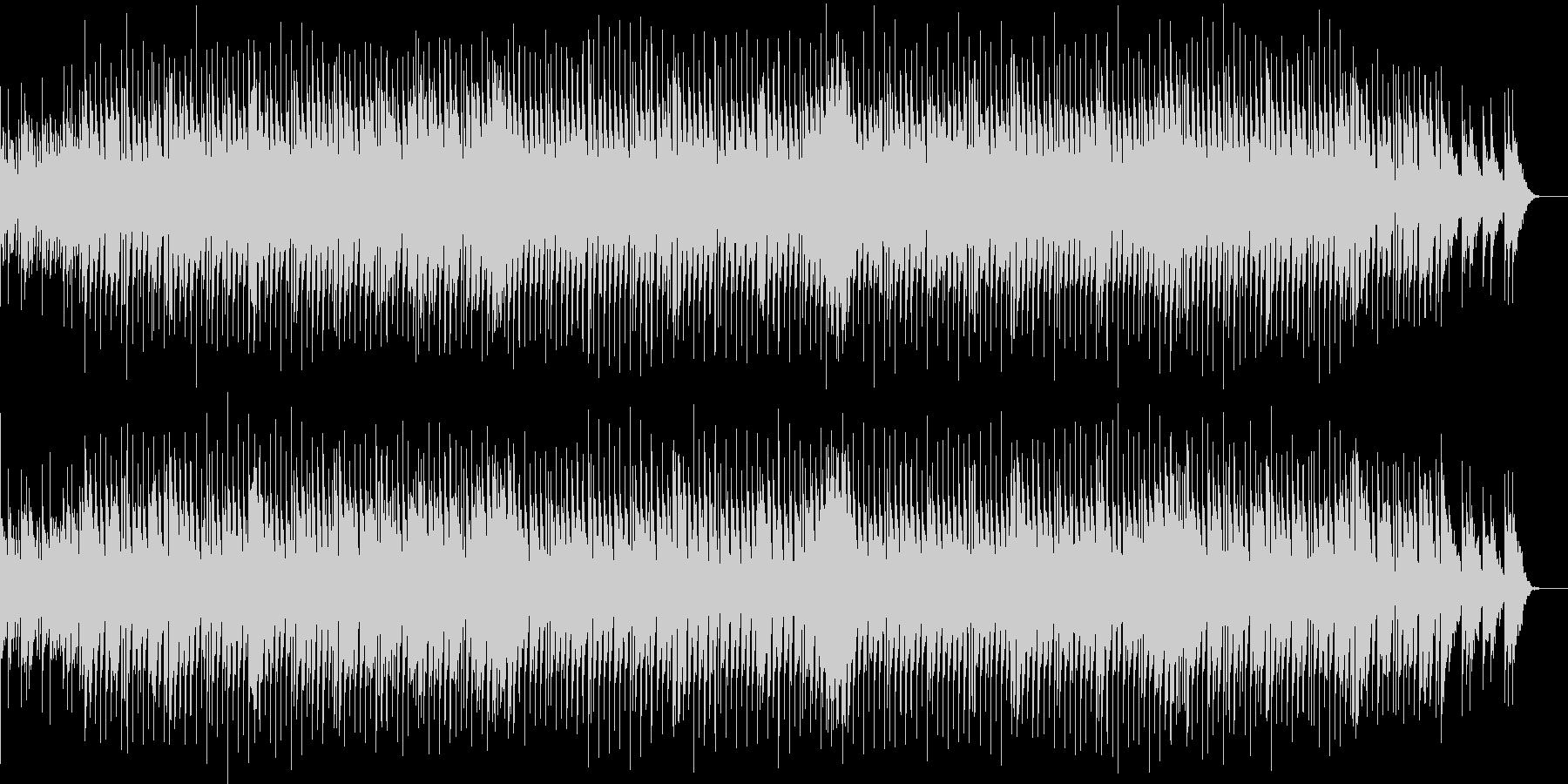 軽快なリズムと耳に残るフレーズのBGMの未再生の波形