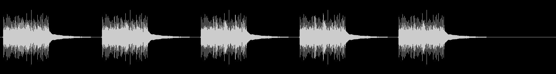 電話リング、ベル型アンティーク電話1。の未再生の波形