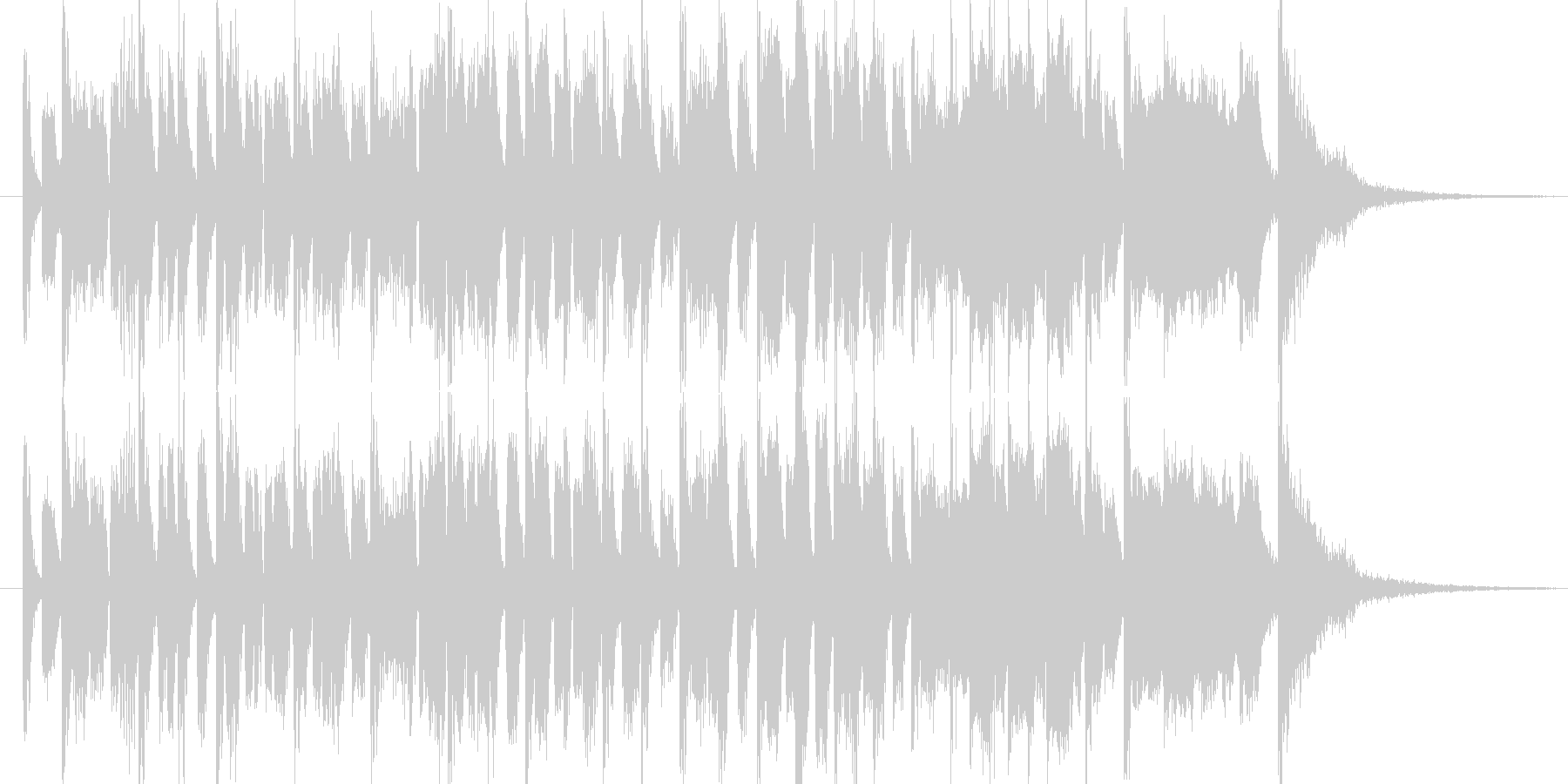 クイズに使えそうなテクノポップな曲ですの未再生の波形