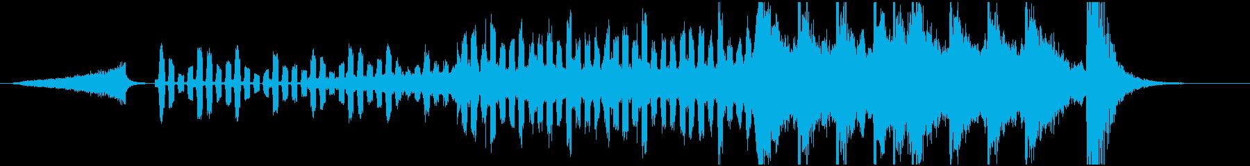 オープニング感のあるシンセサウンドの再生済みの波形