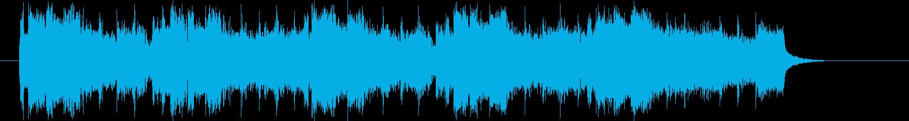 メロディがリフレインするシンセポップの再生済みの波形