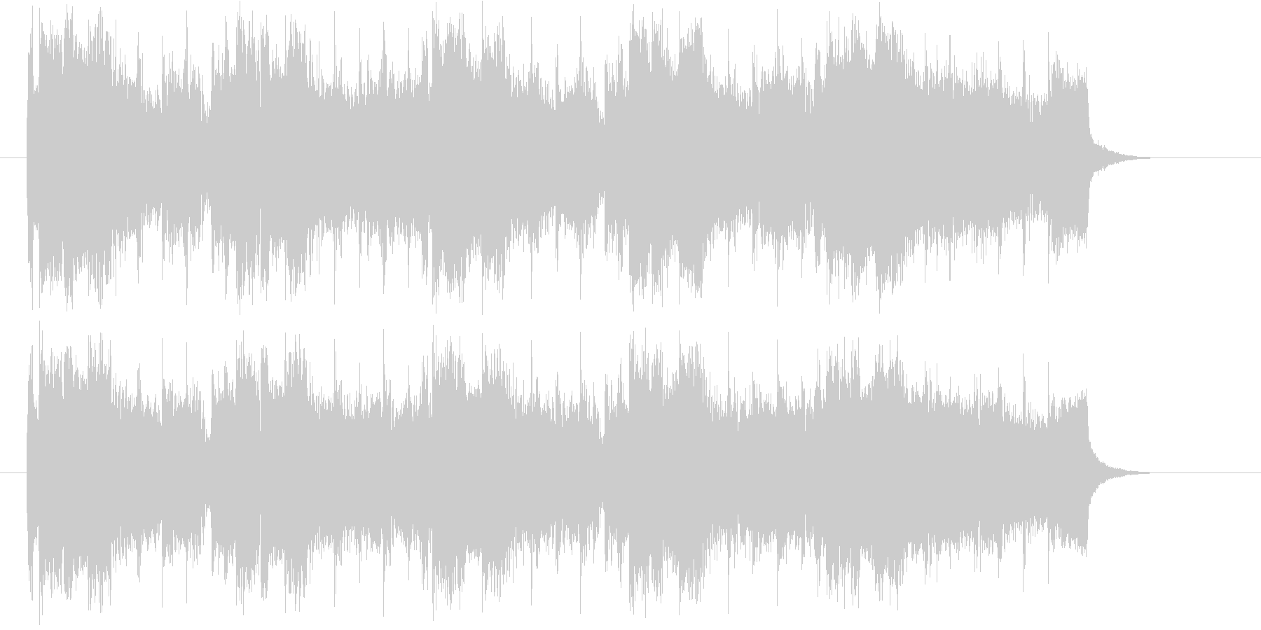 メロディがリフレインするシンセポップの未再生の波形
