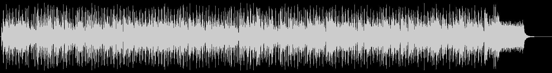 明るくスピーディなBGMの未再生の波形