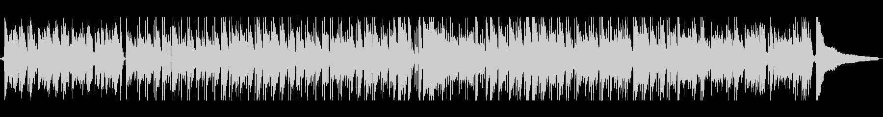 ギターとピアノの軽快なボサノバの未再生の波形