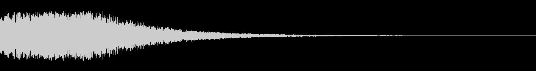 シンセサイザー ゲームスタート音2の未再生の波形