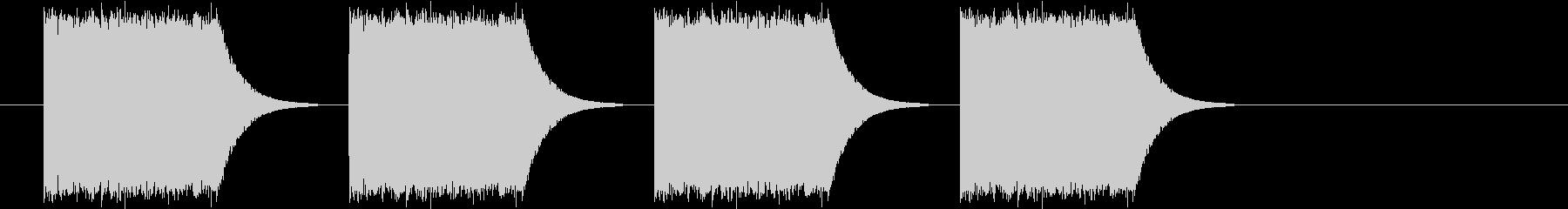 ギュイーン(サイレン、アラーム音)の未再生の波形